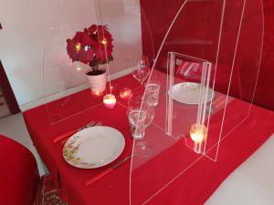 Barriera protettiva, da tavolo in plexiglass contro il Coronavirus